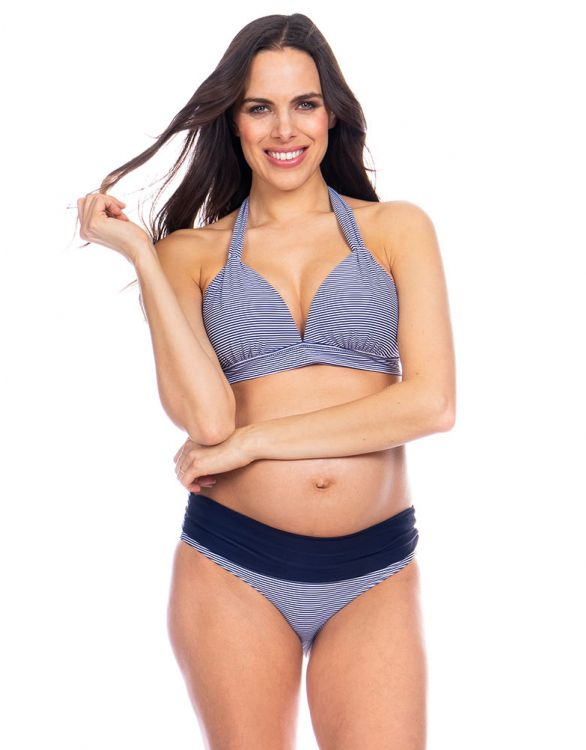 Image for Nautical Stripe Adjustable Maternity Bikini