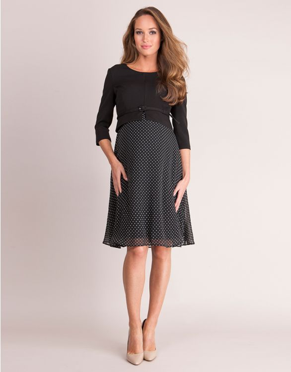 Image for Silk & Ponte Maternity & Nursing Dress