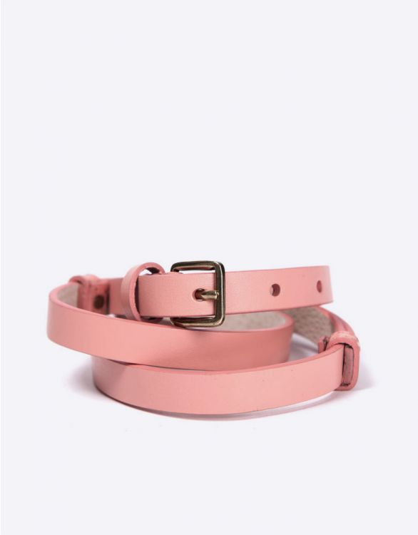 Image for Pink Adjustable Leather Maternity Belt