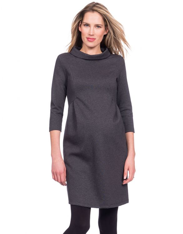 Image for Funnel Neck Maternity Dress