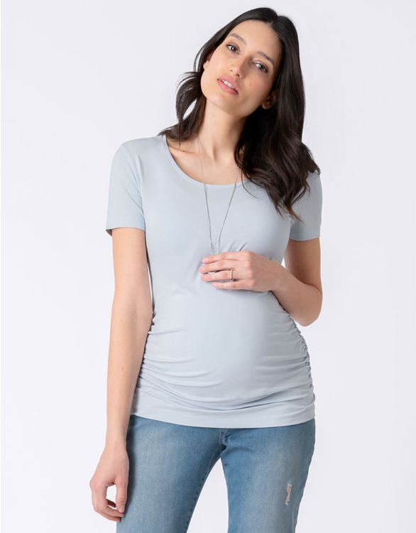 Image for Light Blue Basic Maternity T-Shirt