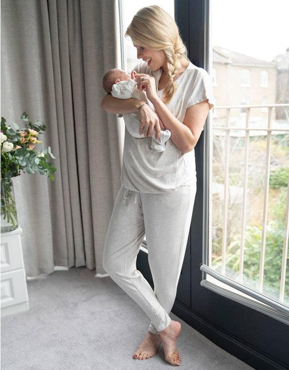 Image for Ultra-Soft Maternity & Nursing Loungewear Set