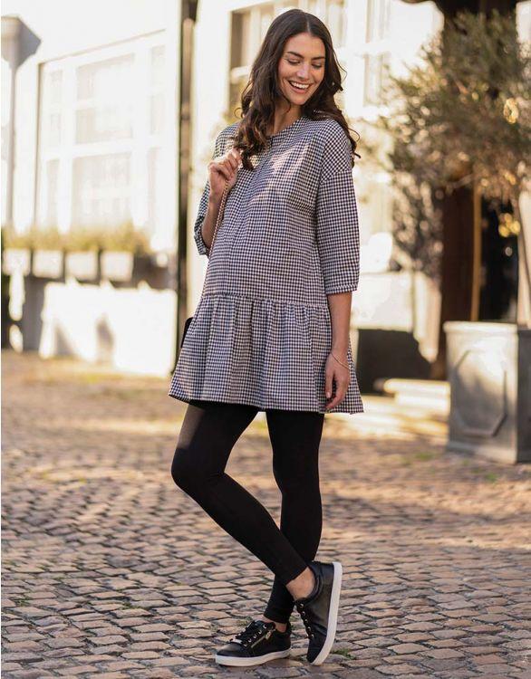 Image for Gingham Maternity & Nursing Tunic