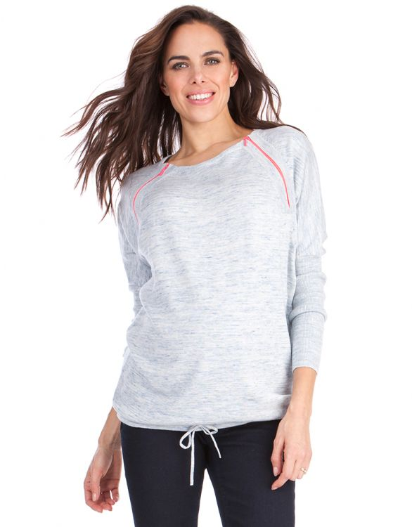 Image for Cotton Neon Detail Maternity & Nursing Jumper