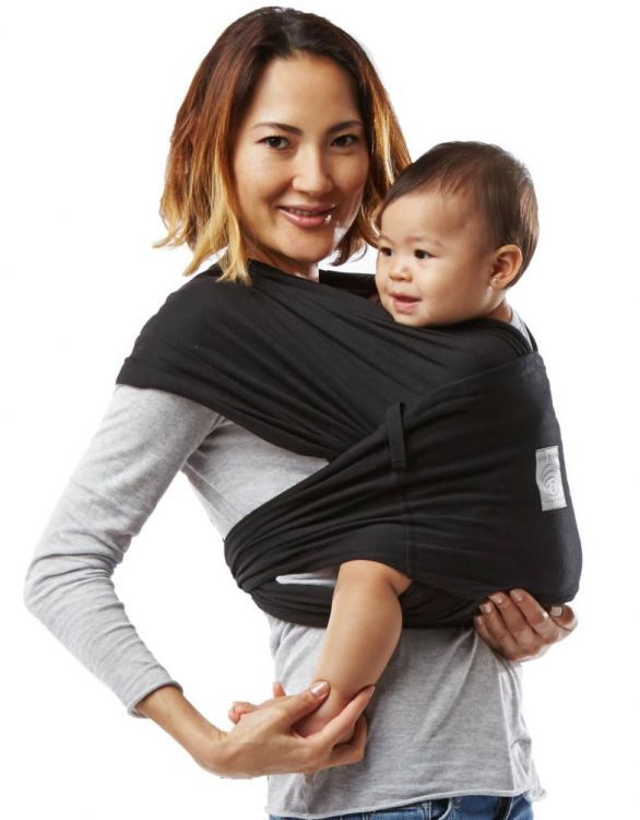 Image for Baby K'tan ORIGINAL Cotton Wrap Baby Carrier - Black