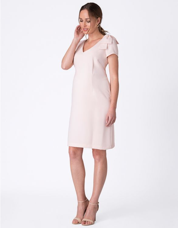 Image for Blush Maternity Shift Dress with Bow Detail