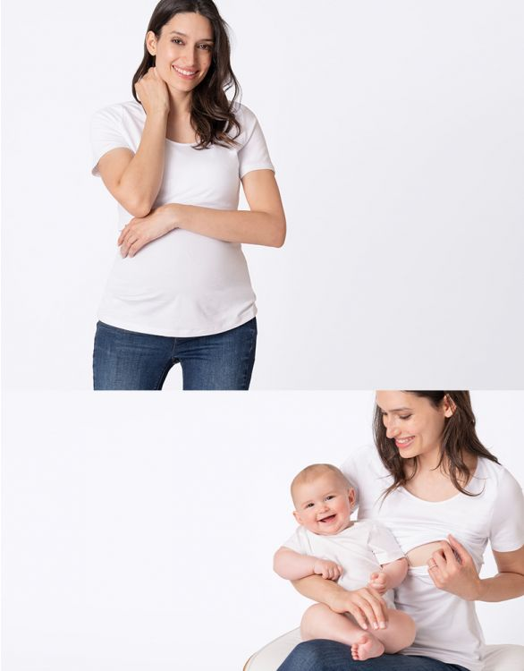 Image for White Maternity & Nursing T-Shirt