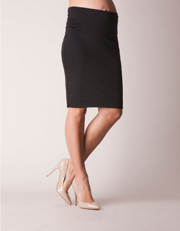 Image for Black Super Stretch Maternity Pencil Skirt