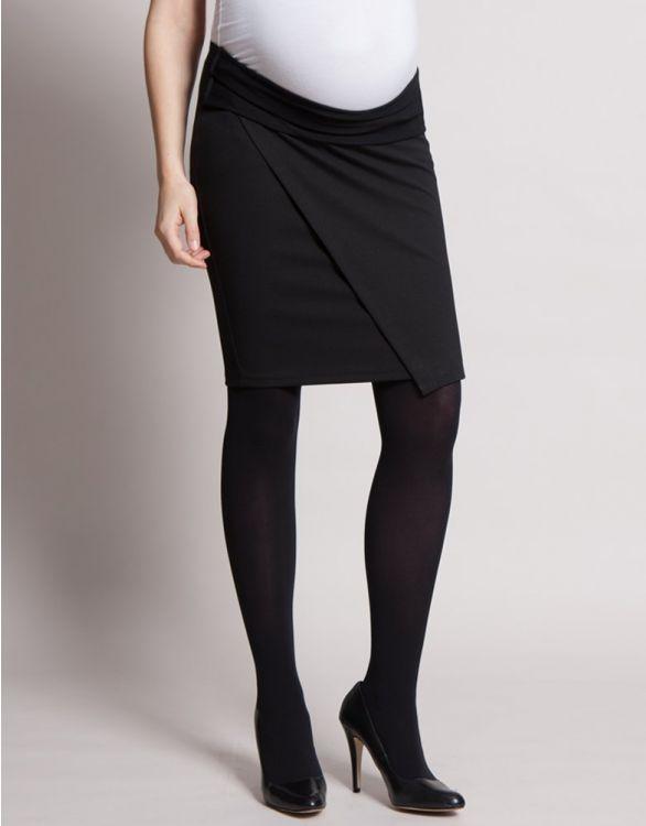 Image for Black Adjustable Maternity Skirt