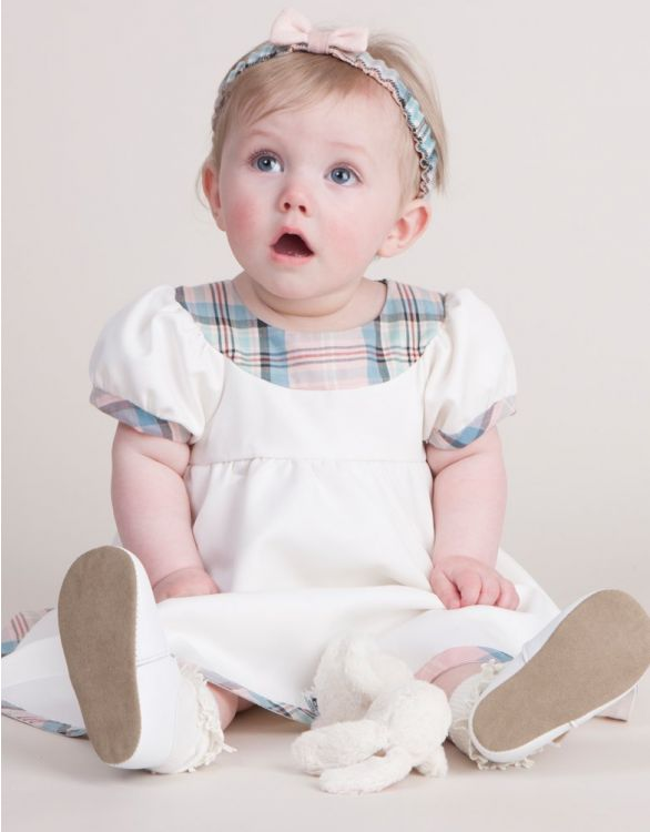 Image for Tartan Trim Summer Baby Dress