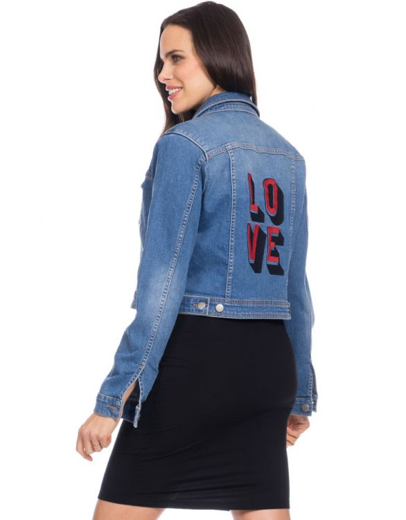 Image for LOVE Denim Maternity Jacket
