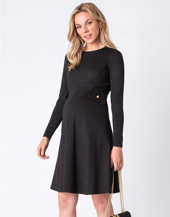 Image for Fit & Flare Black Maternity Dress
