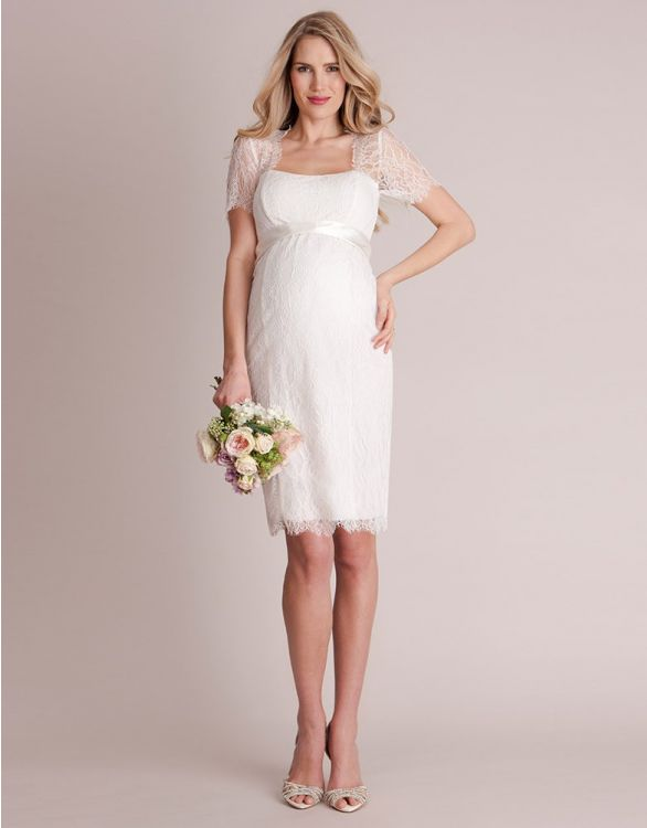 Bild für Cut Out Lace Maternity Wedding Dress