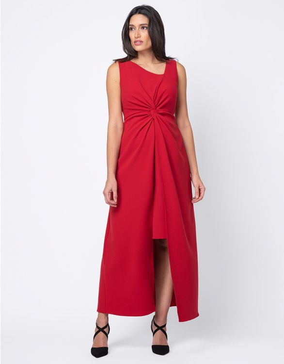 Image pour Robe grossesse taille haute - Rouge