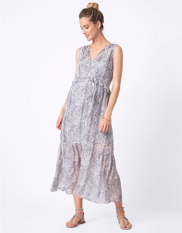 Image for Breathable Printed Maternity Maxi Dress