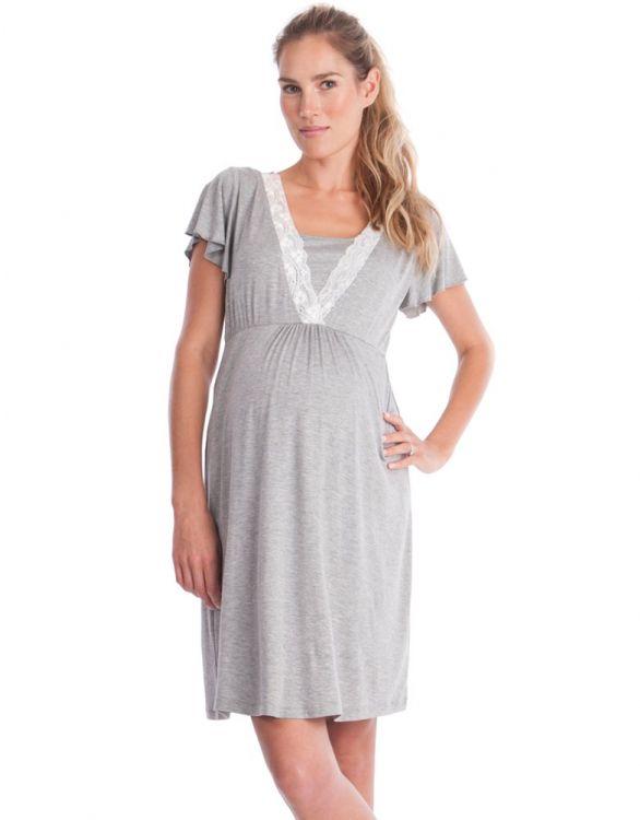 Image pour Chemise de nuit allaitement - Gris