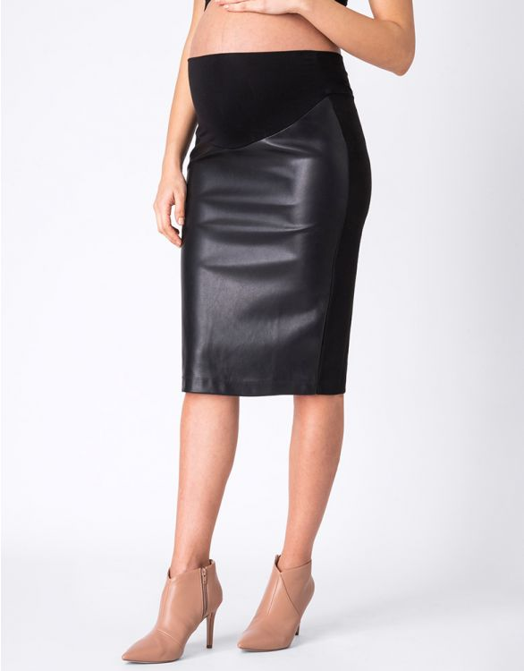 Image for Faux Leather Maternity Skirt