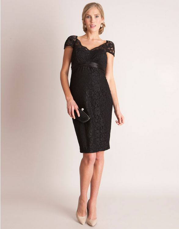 Image for Black Lace Maternity Cocktail Dress