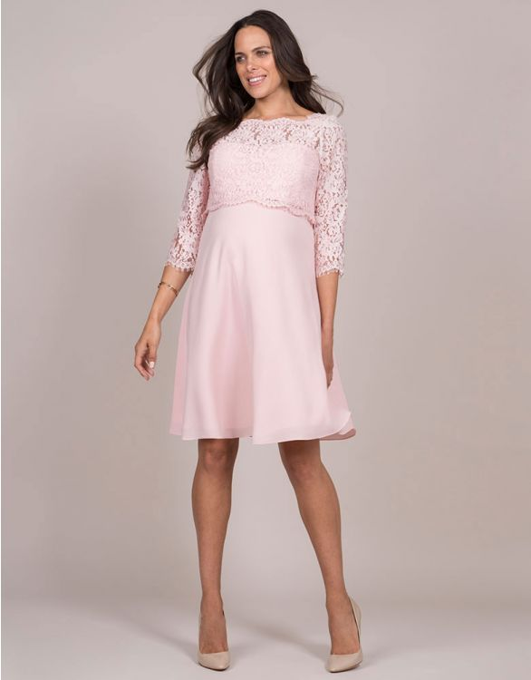Image for Blush Lace Maternity & Nursing Dress