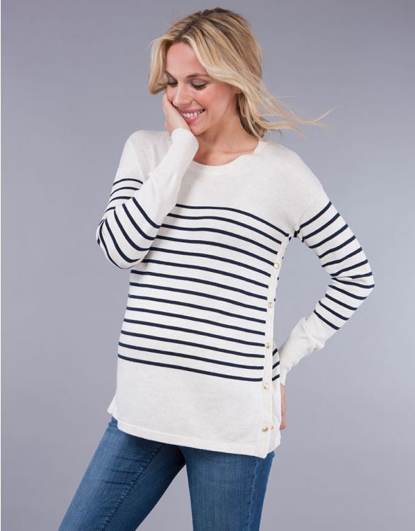 Image for Breton Cotton Blend Maternity & Nursing Jumper