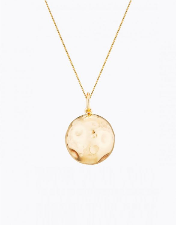 Imagen de Yellow Gold Plated Moon Maternity Necklace