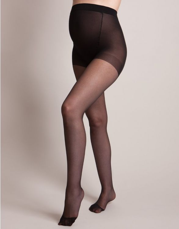 Image for 15 Denier Black Over-Bump Maternity Tights