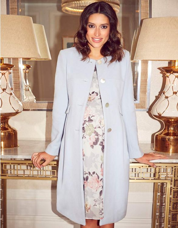 Image pour Manteau grossesse en cachemire - Bleu