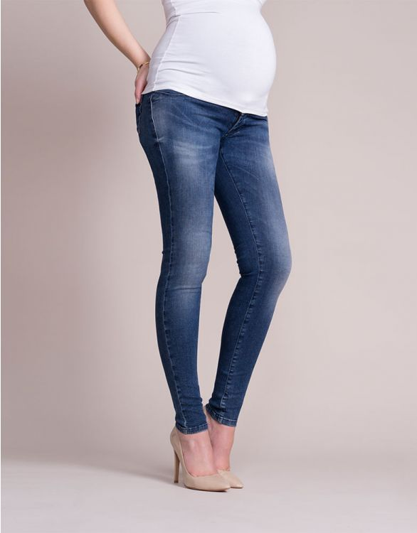Image for Faded Over Bump Skinny Maternity Jeans