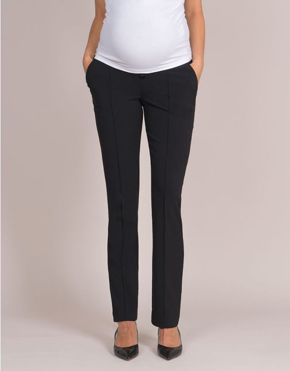 Image for Soft Black Maternity Trousers