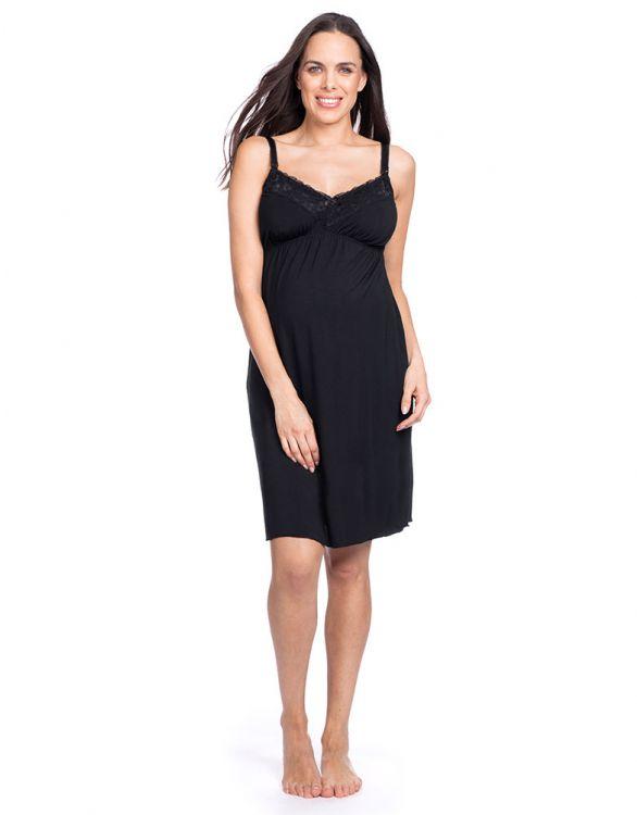 Image pour Nuisette de grossesse et d'allaitement - Noir