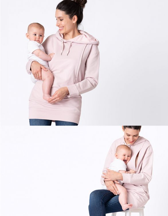 Image for Blush Pink Maternity & Nursing Hoodie