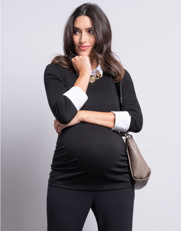 Image for Detachable Collar Maternity Top