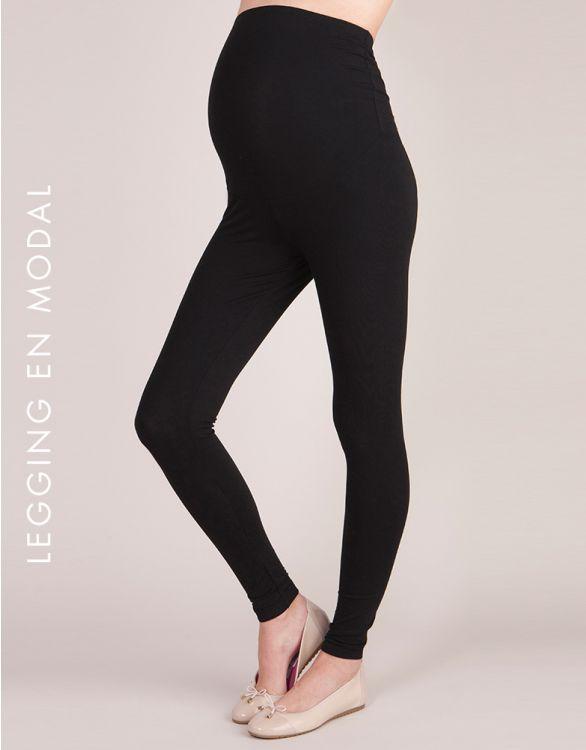 Image pour Legging grossesse en modal - Noir