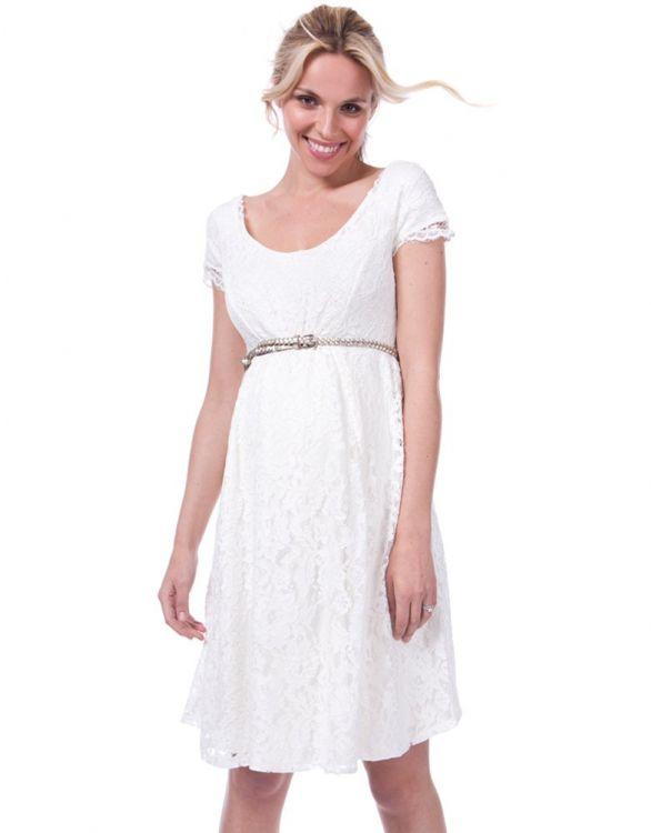 Image for White Lace Maternity Wedding Dress