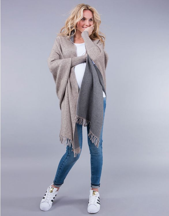 Image for Two-Tone Luxury Maternity & Nursing Shawl Wrap