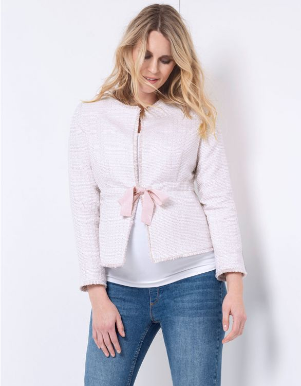 Image for Blush Bouclé Maternity Jacket