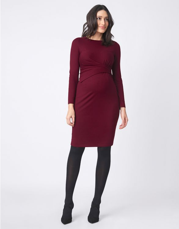 Image for Plum Asymmetric Maternity Dress