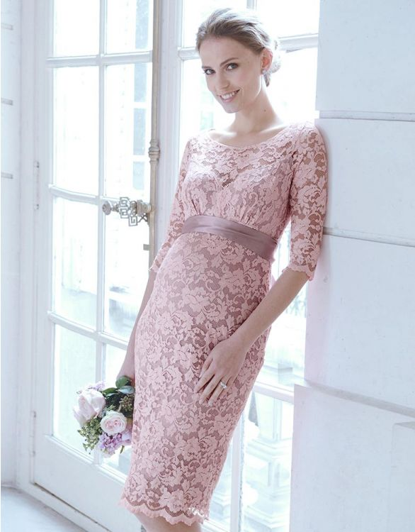 Image for Blush Lace Maternity Cocktail Dress