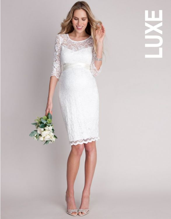 Imagen de Ivory Lace Maternity Cocktail Dress