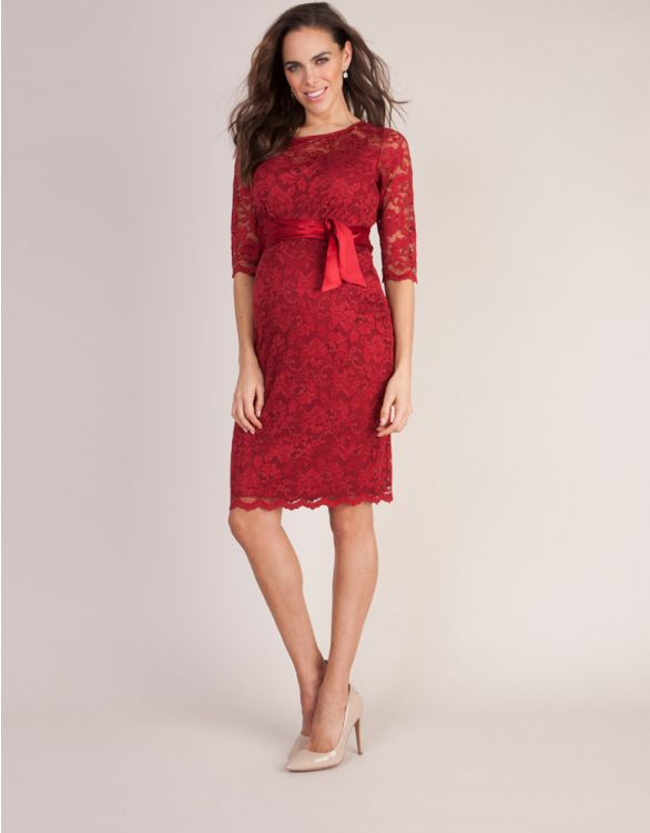 Image for Red Lace Maternity Dress