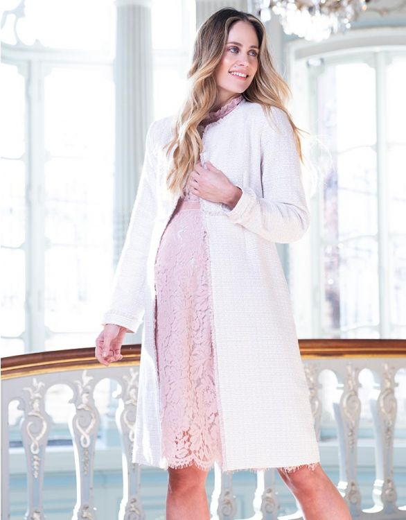 Image for Blush Bouclé Maternity Coat