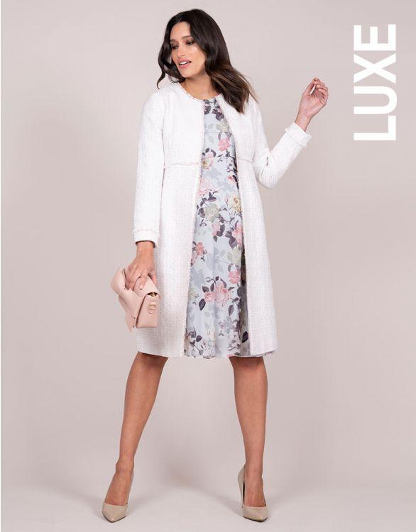 Image for Blush Bouclé Maternity Coat
