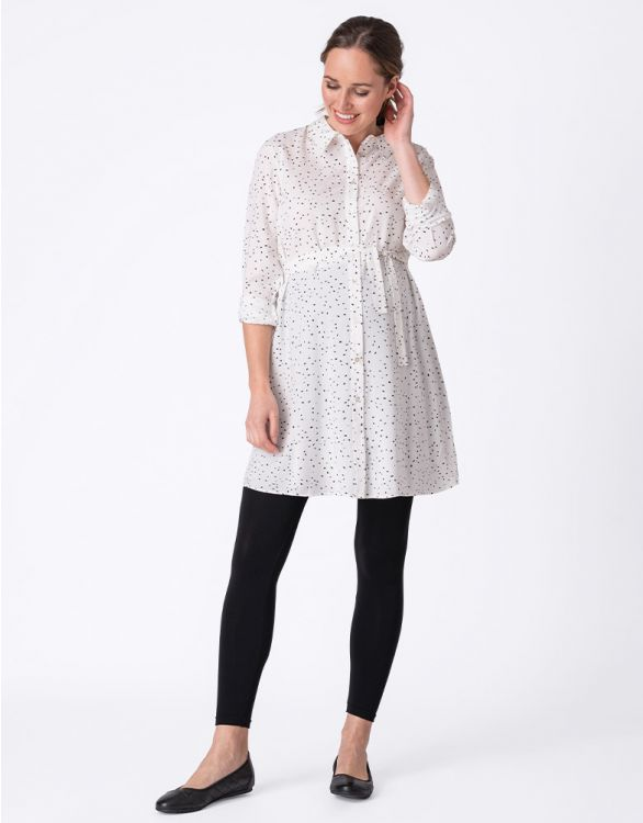 Image for Polka Dot Button Down Maternity Tunic