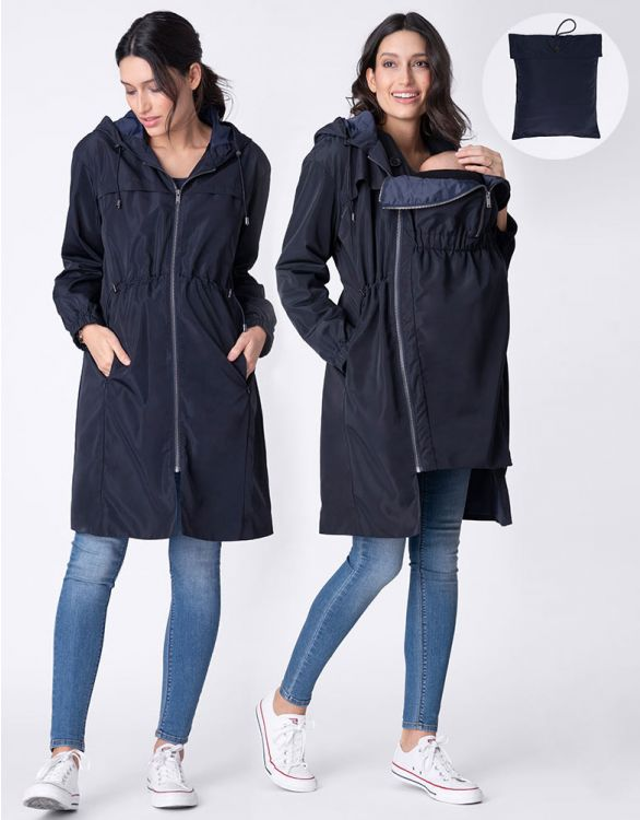 Image for 3 in 1 Rain Resistant Pack-Away Maternity Coat