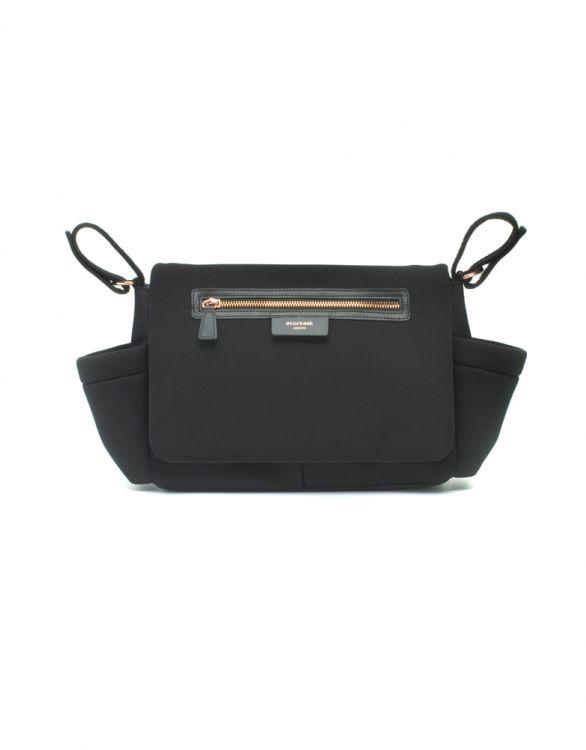 Image for Storksak Stroller Organiser Luxe Black Scuba