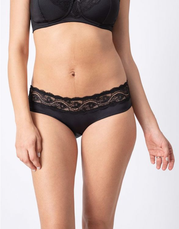 Image for Seraphine Black Lace Trim Maternity Briefs