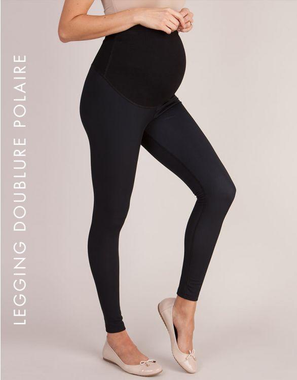 Image pour Legging grossesse doublure polaire - Noir