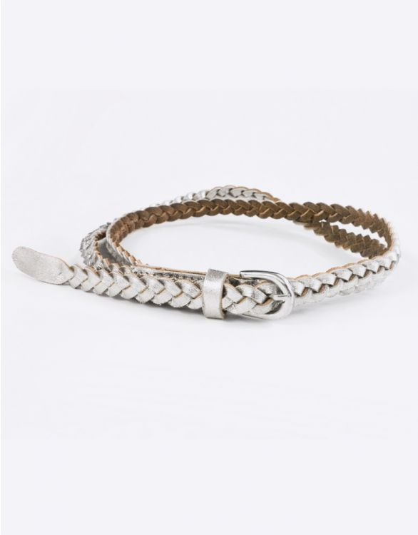Image for Silver Braided Maternity Belt