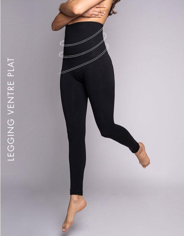 Image pour Legging post-accouchement ventre plat - Noir