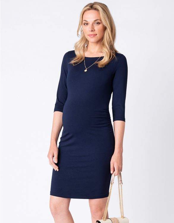 Image for Navy Blue Maternity Shift Dress